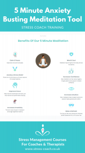 5 minute meditation infographic